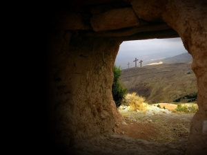 Out of the empt tomb at the crosses