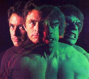 The Incredible Hulk morphing