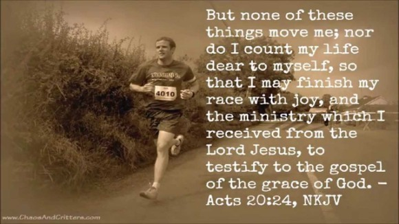 My life verse - Acts 20[24