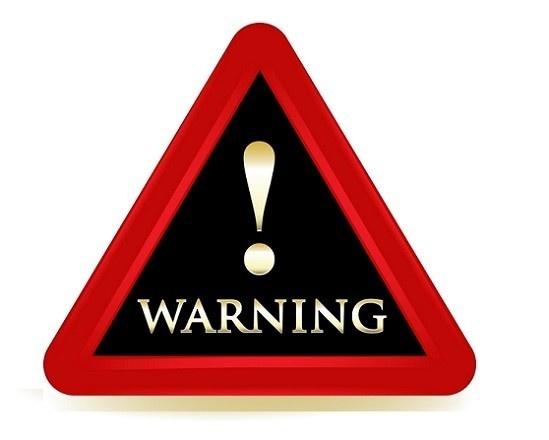 Warning sign - Danger