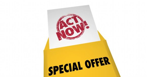Special Offer - Act Now