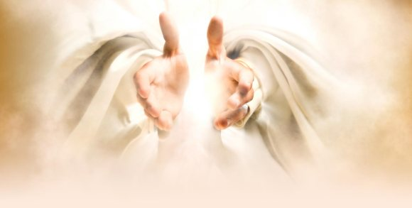 The Lord's hands blessing
