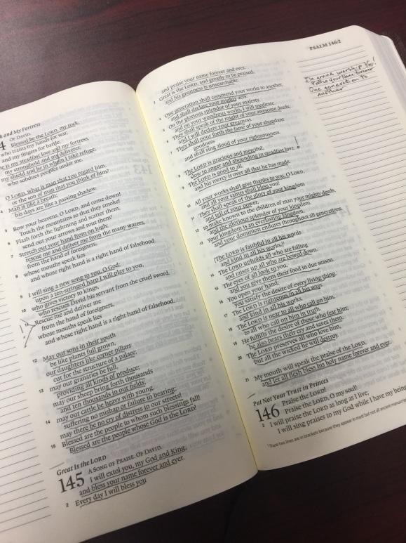 Psalm 145 Underlined