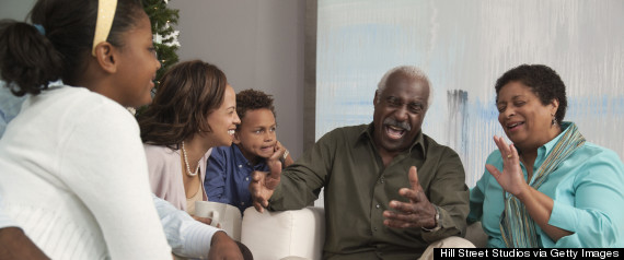 Grandparent telling a story