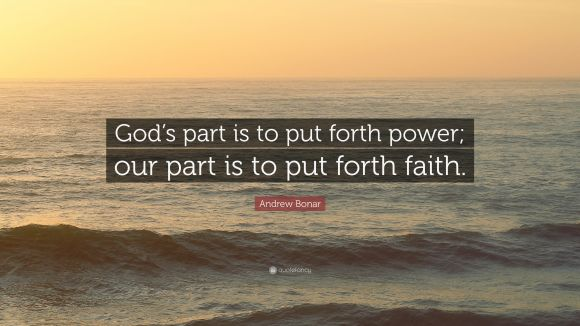 God's part - our part