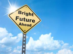 Bright Future sign